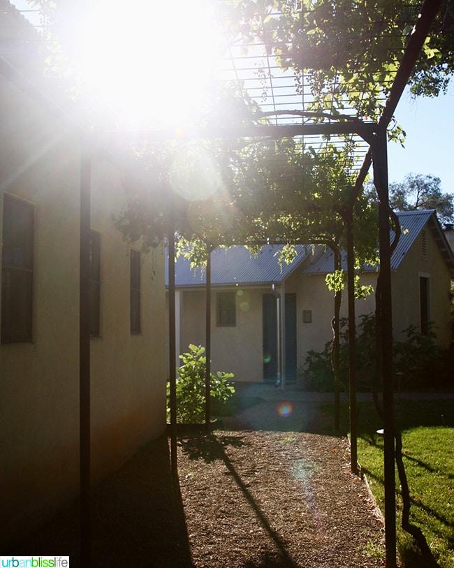 sunbeam path Los Poblanos Inn Albuquerque New Mexico