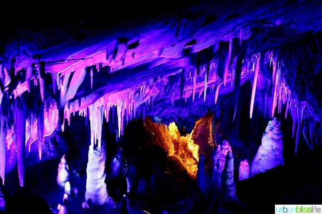 glow in the dark stalactite cave tour Colorado road trip