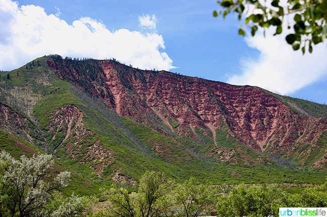 Beautiful red mountains of Glenwood Springs, Colorado