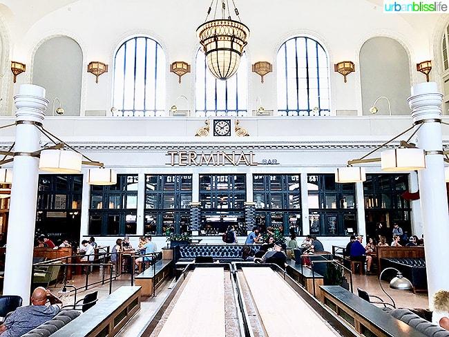 Denver Colorado union station terminal inside