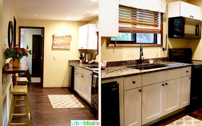 Silver Falls Lodge cabin kitchen