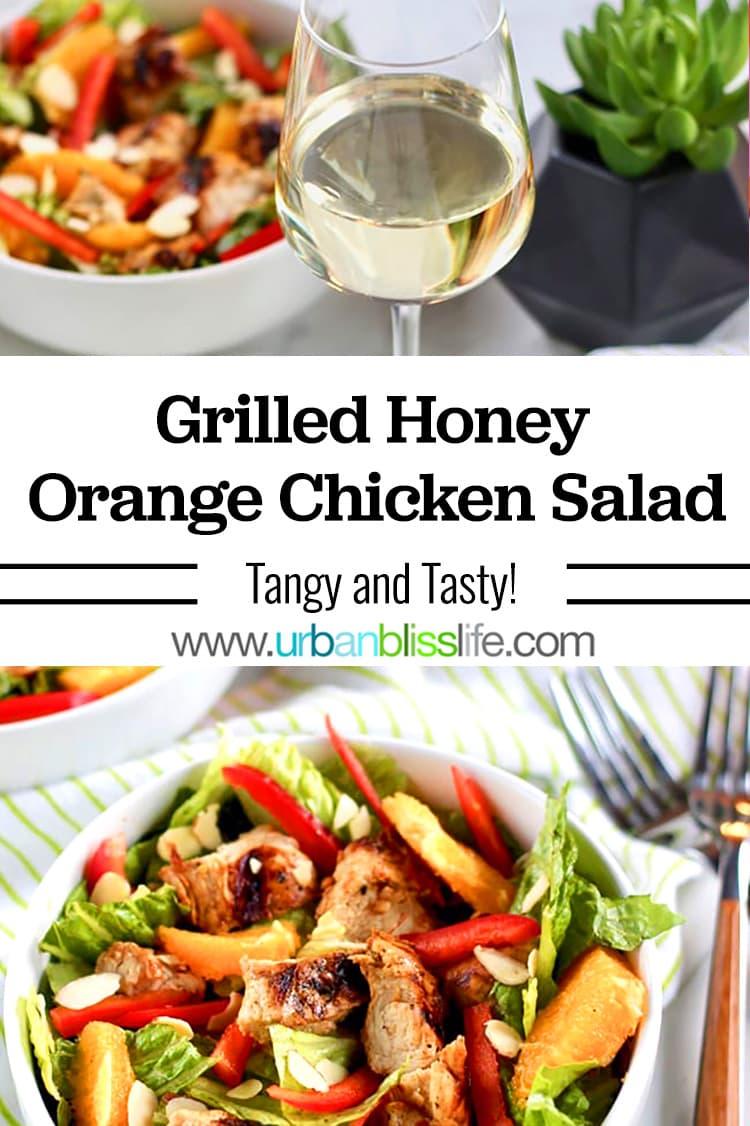 grilled honey orange chicken salad