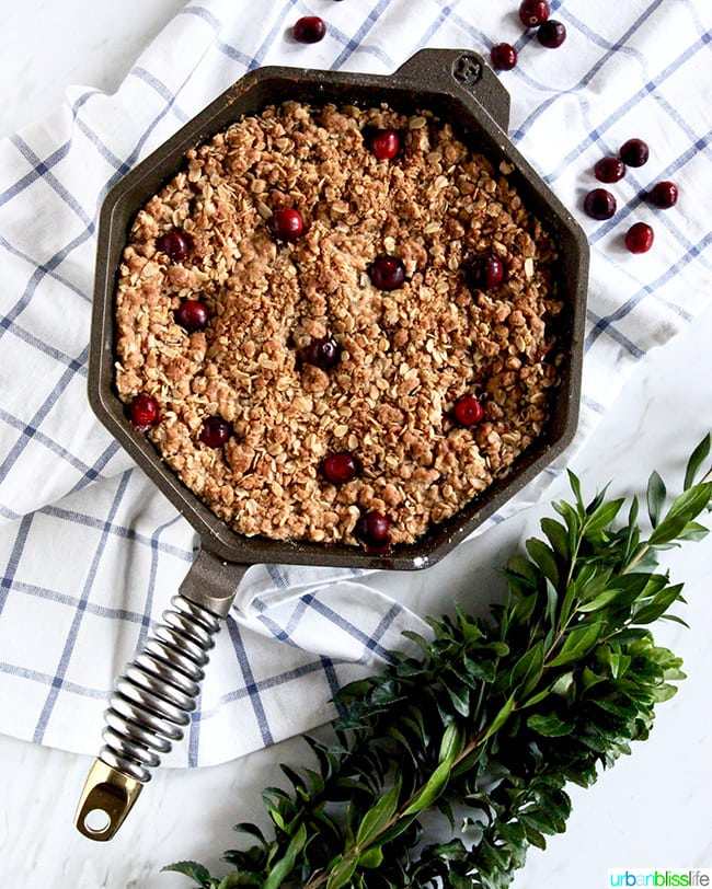 Skillet Apple Cranberry Crisp