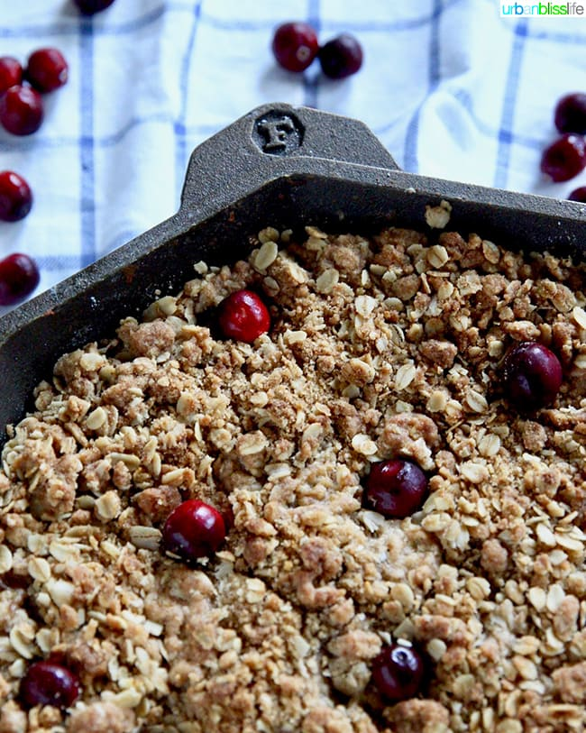 Skillet Apple Cranberry Crisp recipe