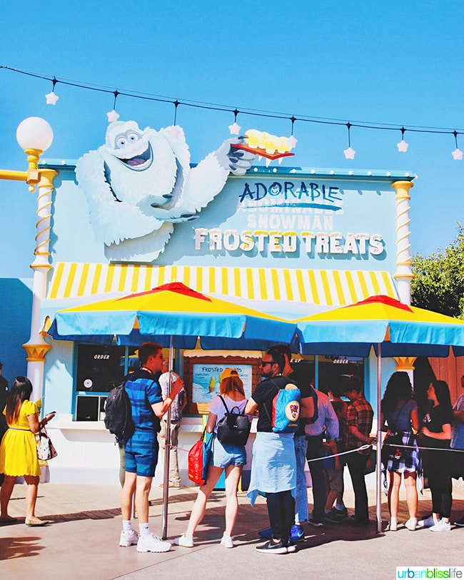 Pixar Pier Adorable Snowman Frosted Treats