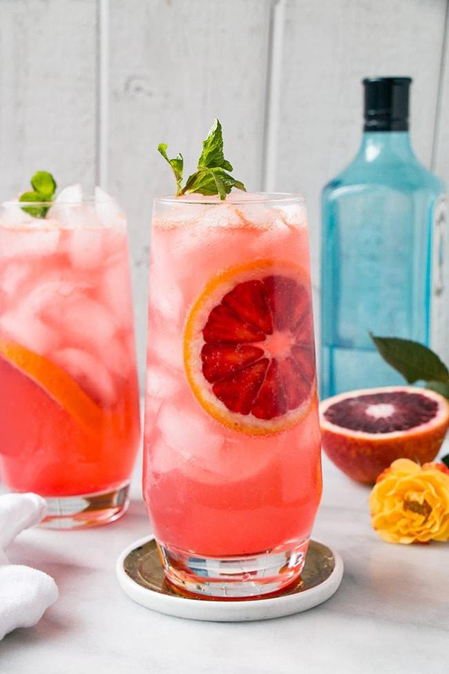 blood orange gin tonic