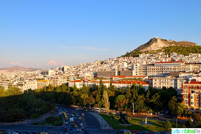 Hilton Athens view from the executive suite
