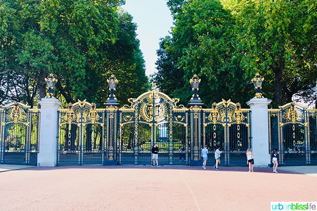 Canada Gate at Green Park London