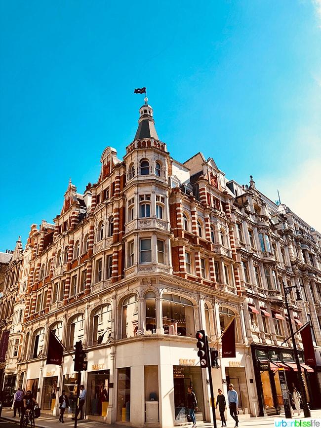 Bally flagship store London New Bond Street shopping