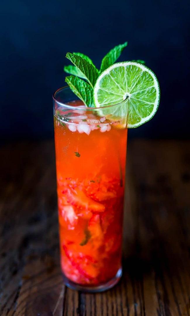 strawberry lime mojito