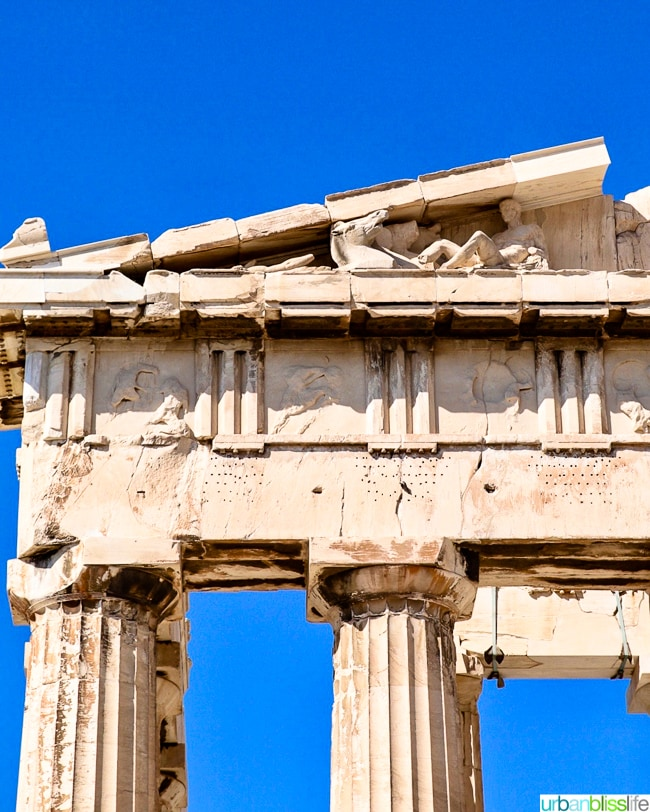 Parthenon at the Acropolis in Athens, Greece