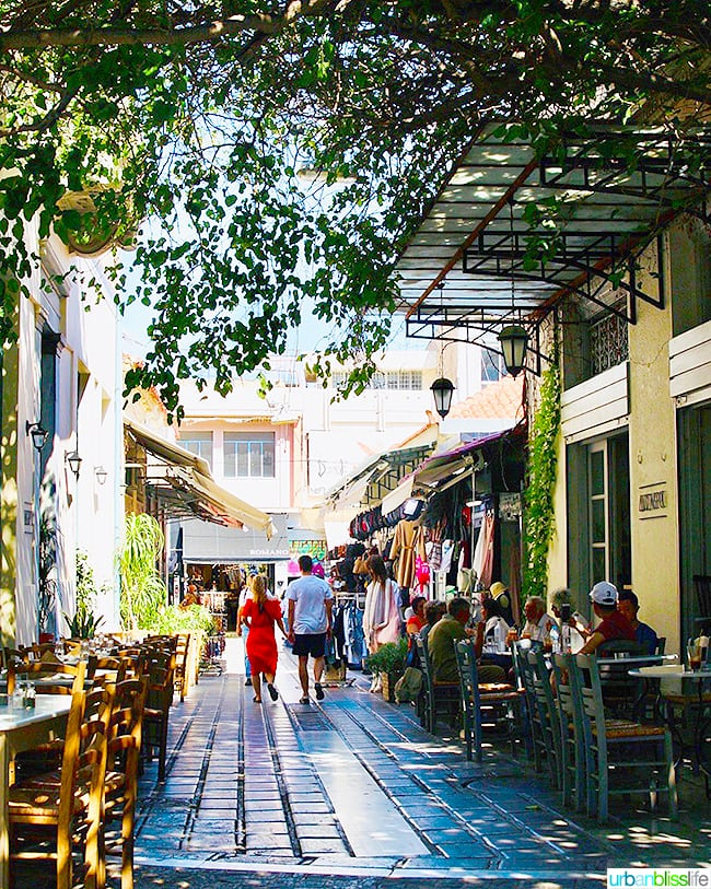 stroll through plaka shops