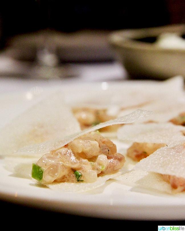 shrimp dish Nolan restaurant Athens, Greece
