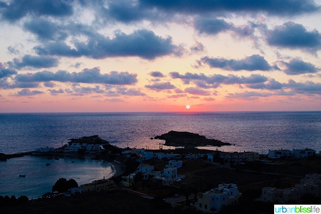 Sunset at Lefkos beach Karpathos Island Greece
