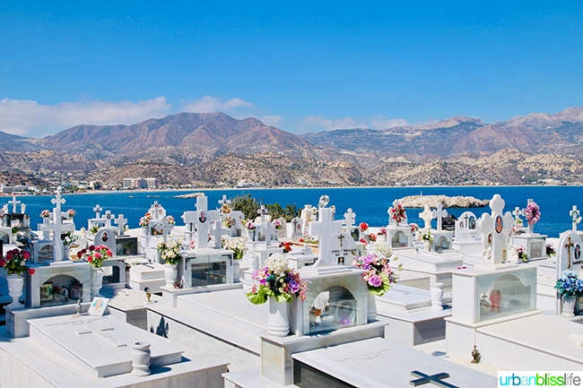 cemetery on Karpathos Island, Greece