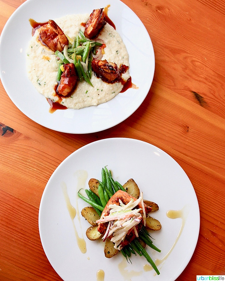 two dishes at Grays at the Park