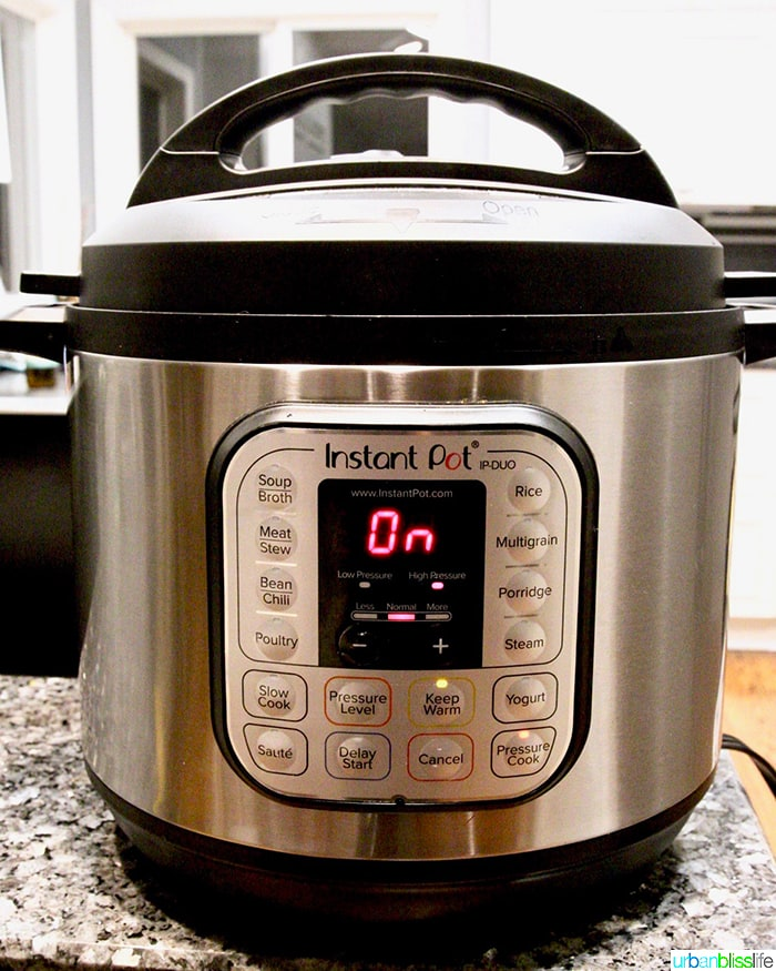 Instant Pot Pressure Cooker used for UrbanBlissLife.com recipes