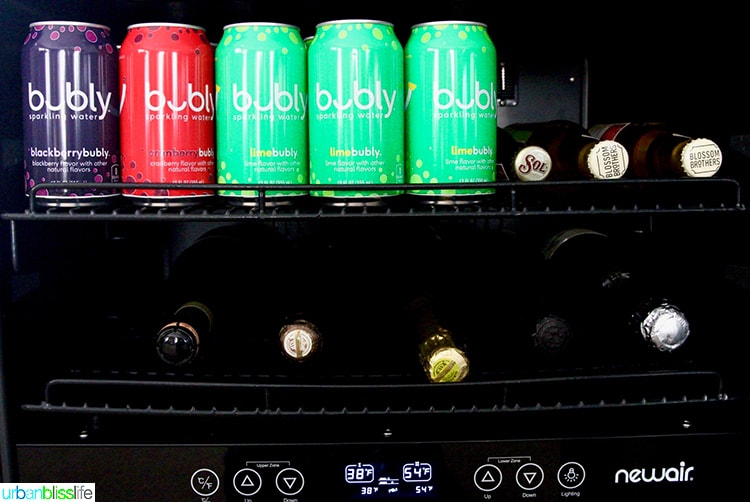 NewAir beverage fridge