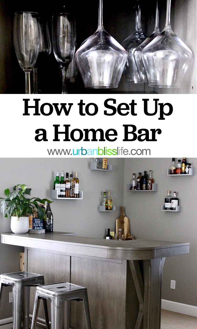 How to Set Up a Home Bar - tips and pics