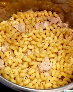 Dairy-Free Instant Pot Tuscan Chicken Pasta cooked before add-ins