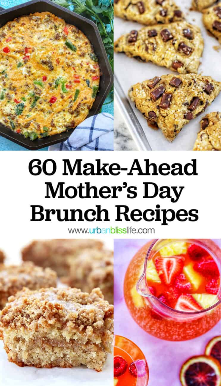 Mother's Day brunch recipes collage with text 3
