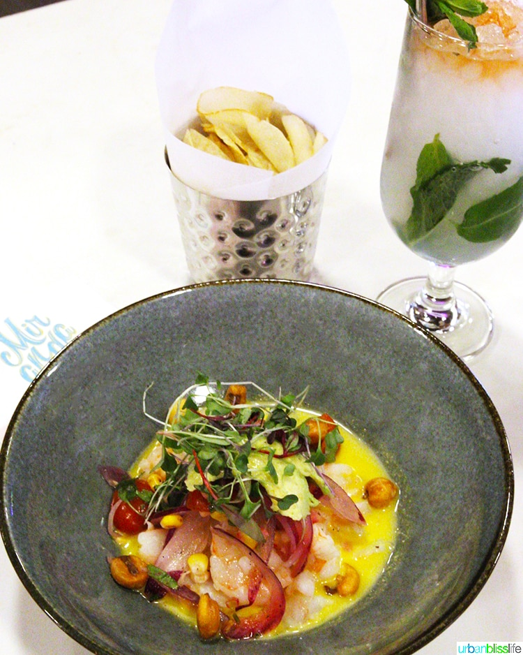 ceviche and fries