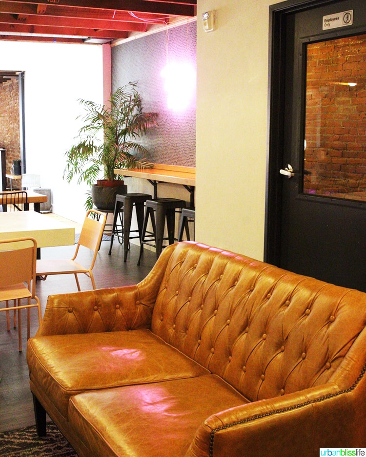 couch at Bar Miranda