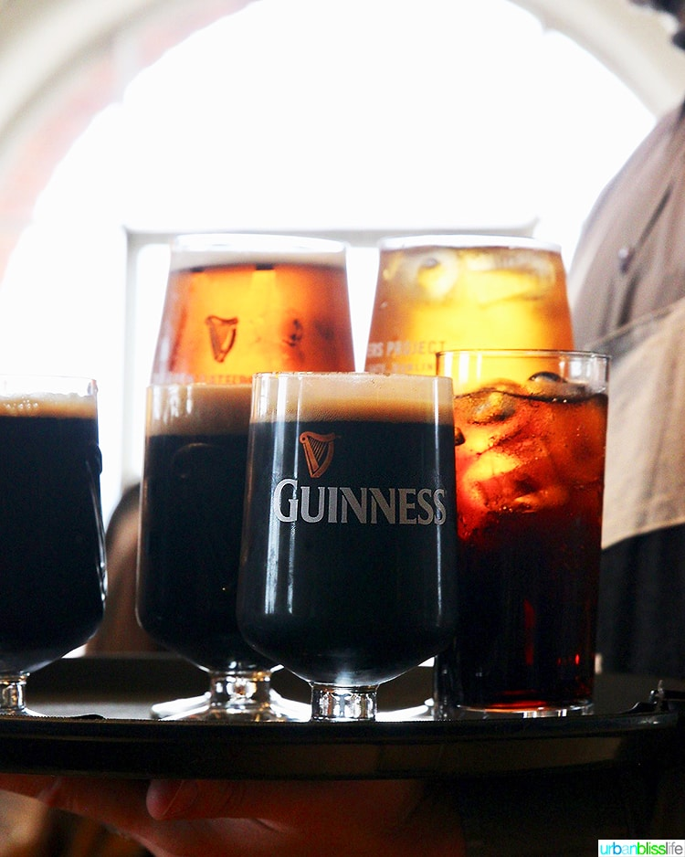 Tray of Guinness beer