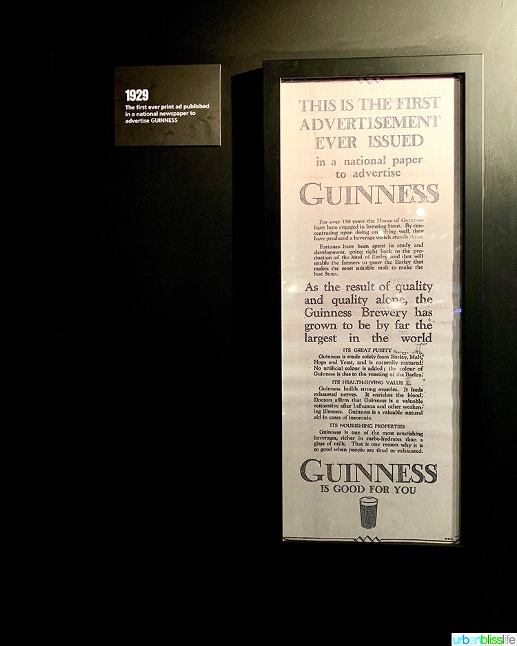 First Guinness Ad