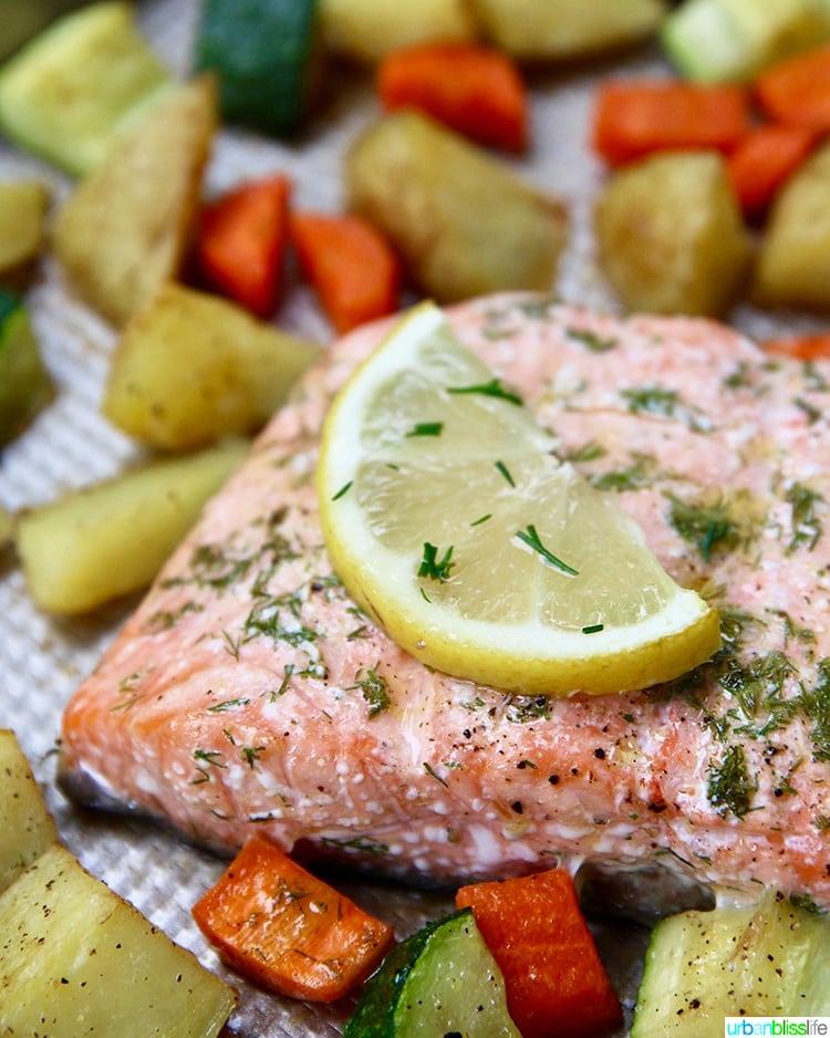 salmon and lemon