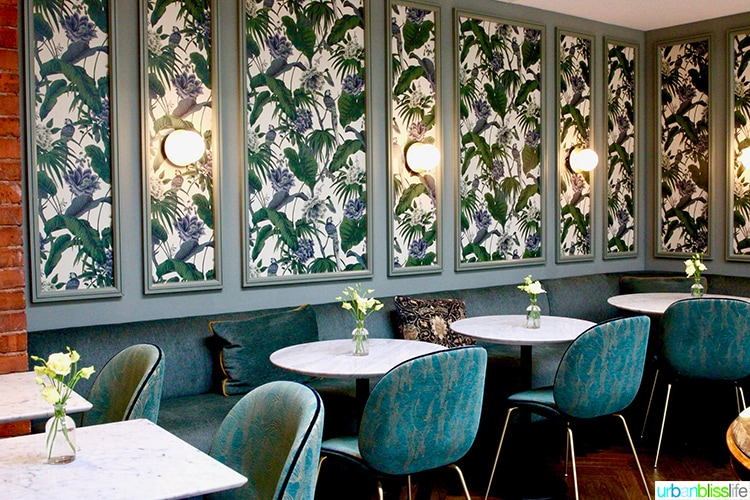 green dining room at Wilder Townhouse