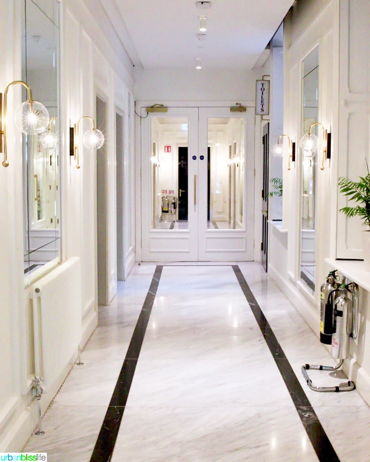 marble hallway at Wilder Townhouse