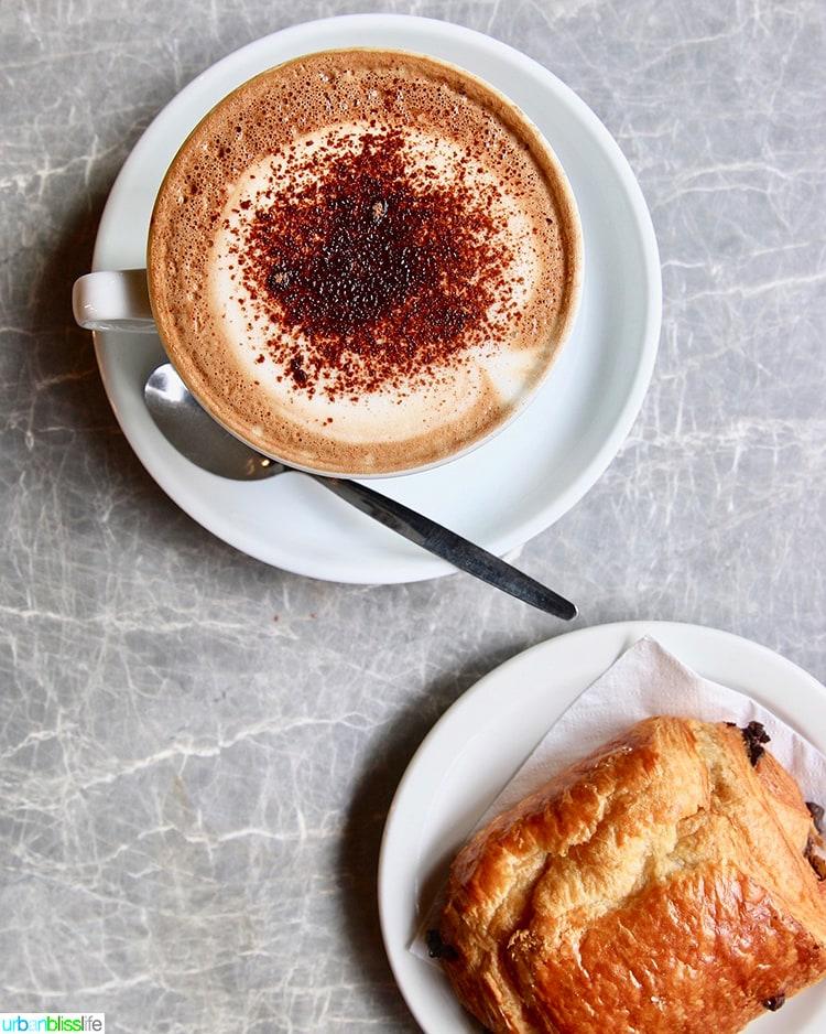 Cafe Nero coffee croissant