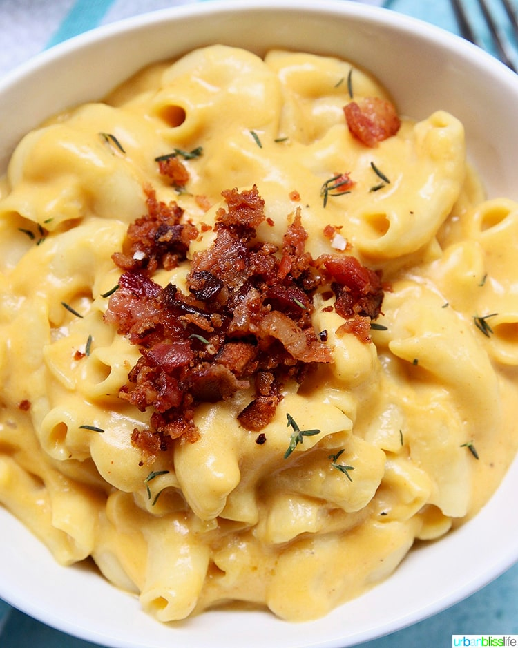 Dairy-Free Mac and Cheese with bacon