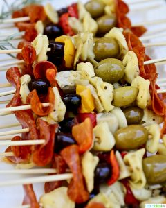 Antipasto Skewers closeup