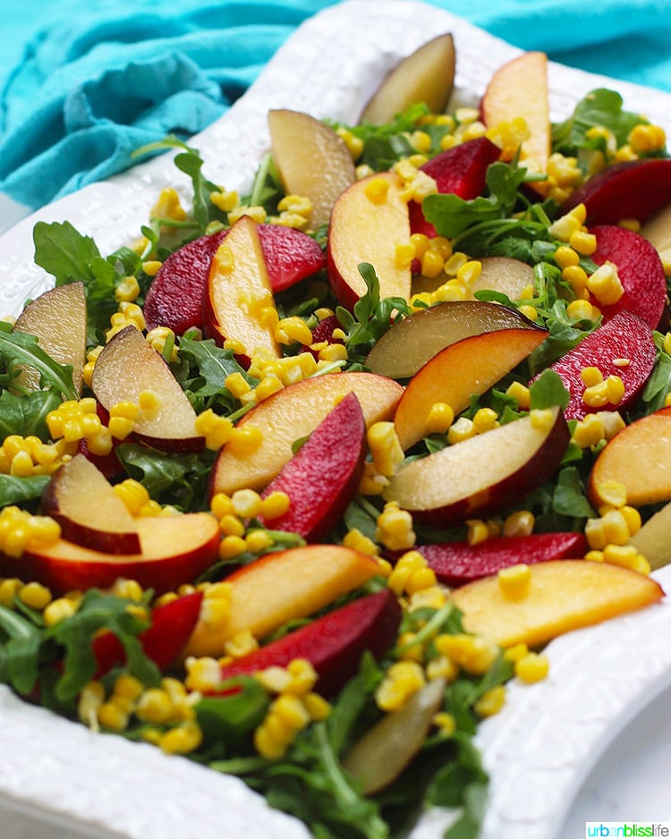 Peach and Plum Summer Salad angle