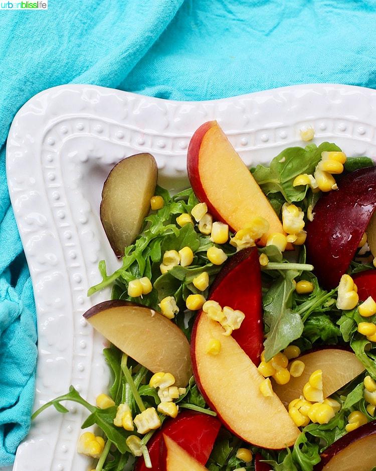 corner of Peach and Plum Summer Salad