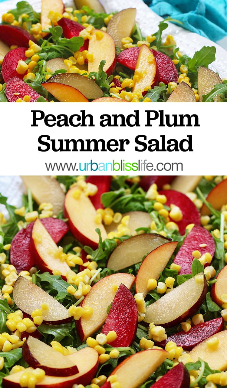 Peach and Plum Summer Salad