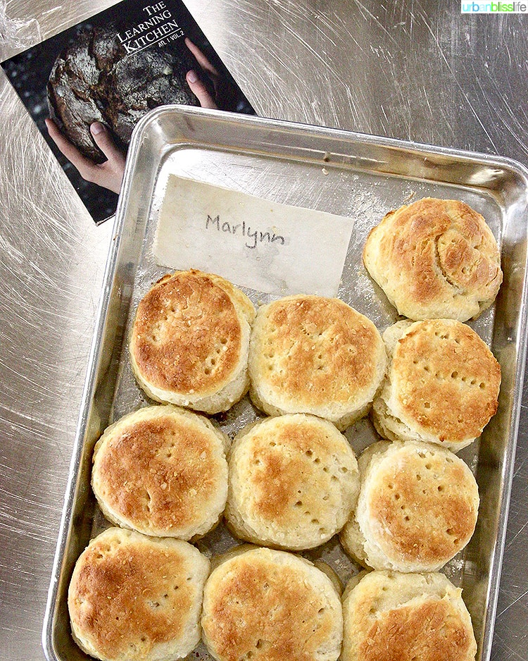 The Learning Kitchen Marlynns Biscuits Tray
