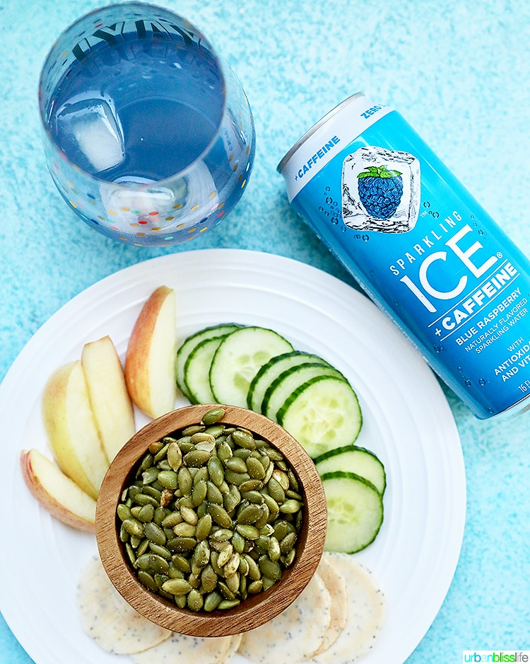 Sparkling Ice Caffeine with healthy snacks to beat the mid-day slump