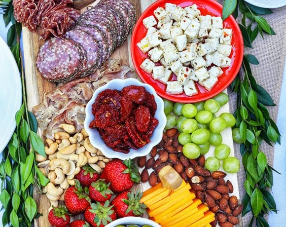 the ultimate fall grazing table