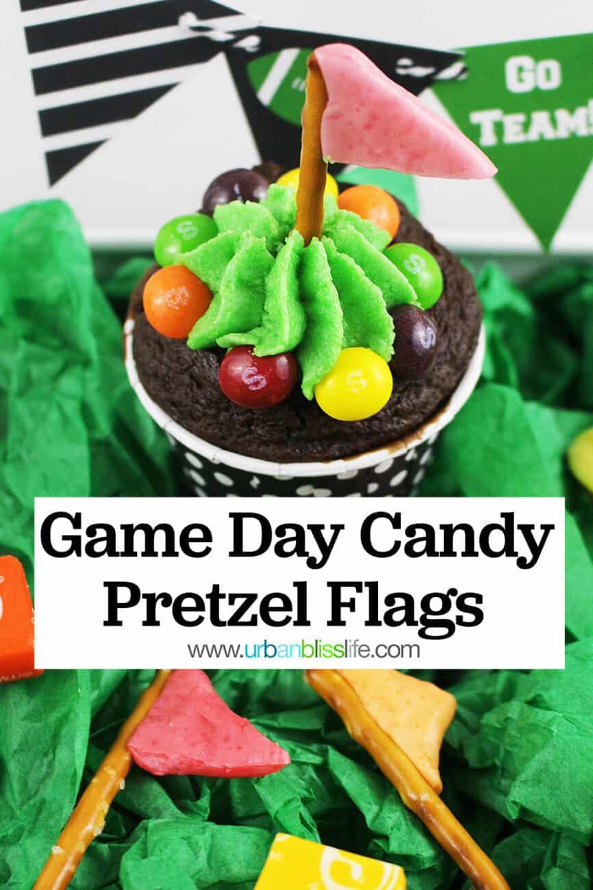 game day pretzel flags