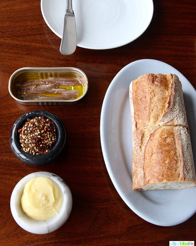 bread at Manhatta restaurant in NYC