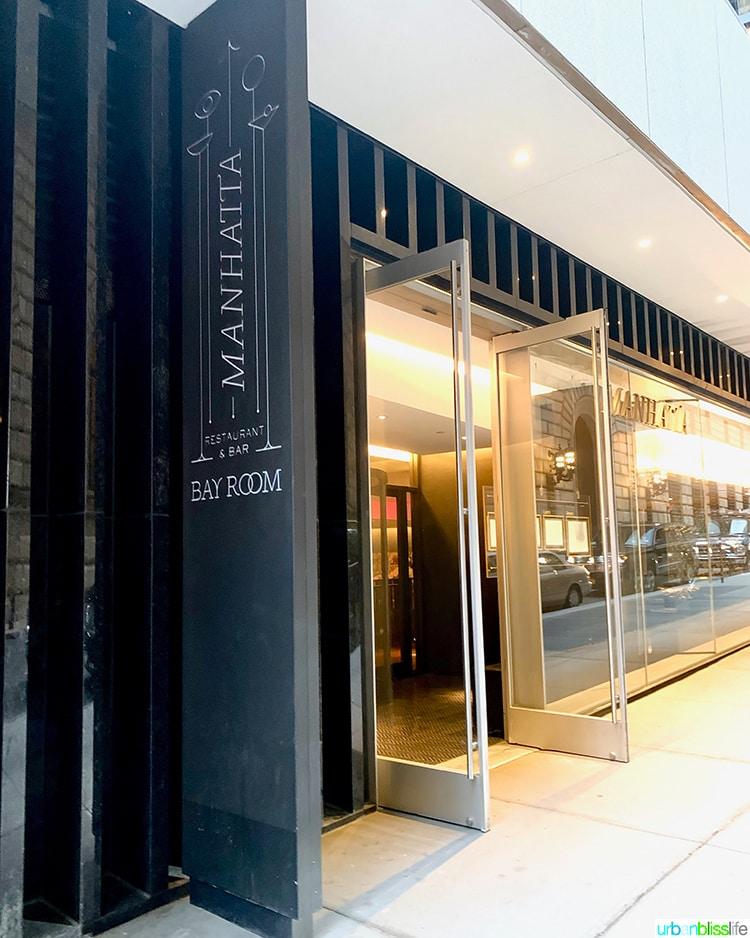 Manhatta restaurant entrance NYC