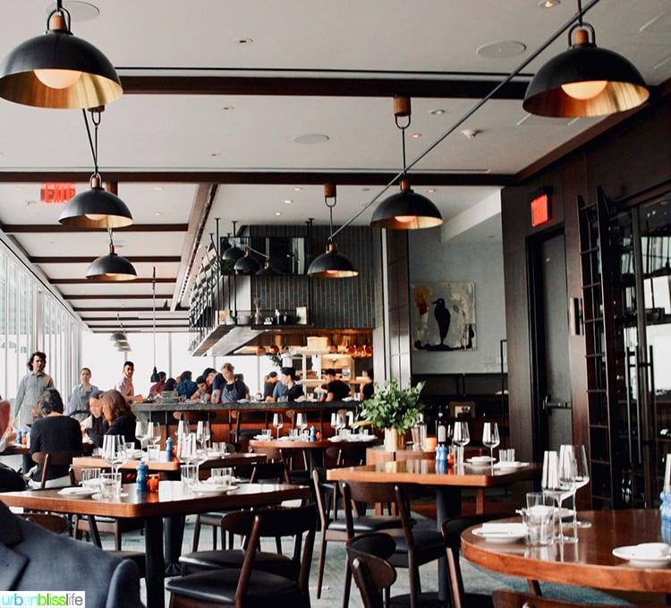 Manhatta restaurant interior dining room