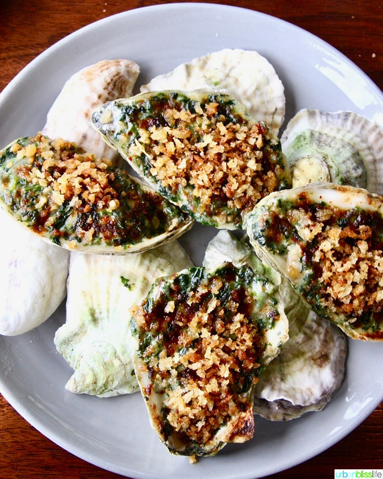 Oysters Rockefeller at Manhatta restaurant