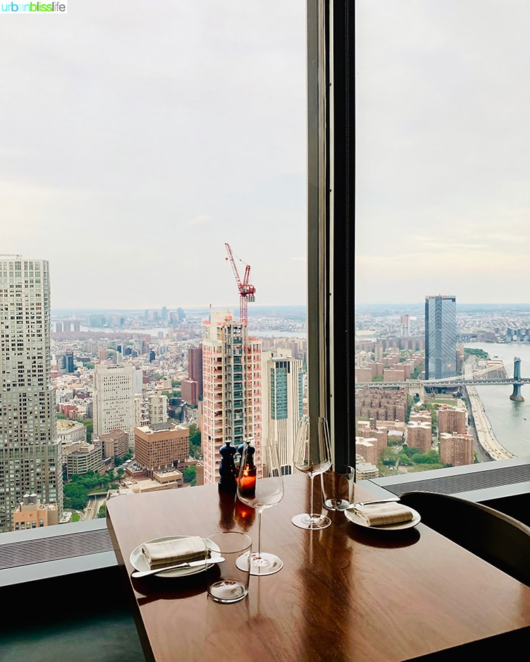 Manhatta restaurant view