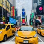 New York City taxis Times Square
