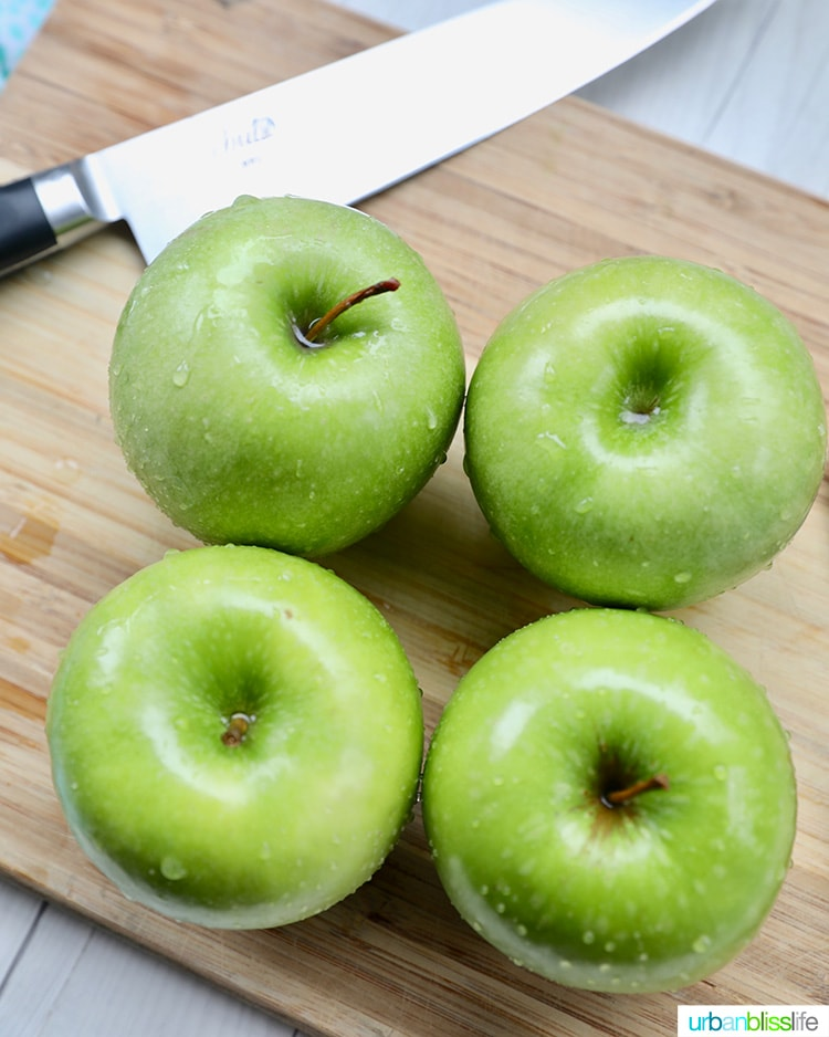 Granny Smith green apples baking