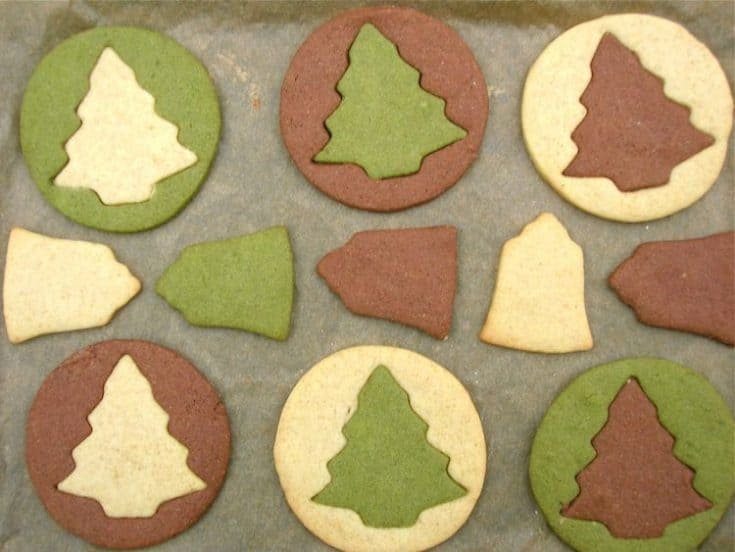Christmas Butter Biscuits - Vanilla, Chocolate and Matcha